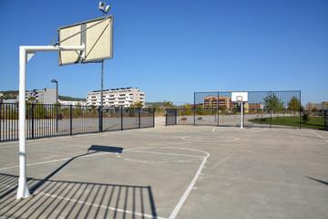 cancha de baloncesto callejero