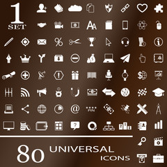 80 universal icons for websites. Seth №1.