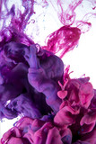 ink color drop, violet and pink
