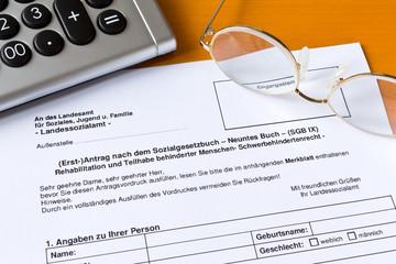 Antrag Schwerbehinderten Ausweis Formular