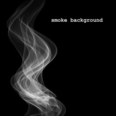Abstract smoke isolated on black. Vector illustration