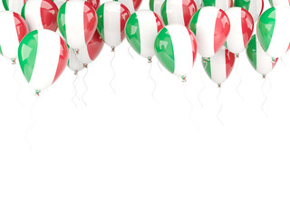 Balloon frame with flag of italy