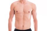 Shirtless muscular male torso