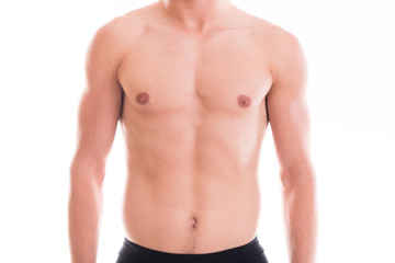 Shirtless muscular male torso