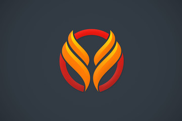 abstract wing business finance logo