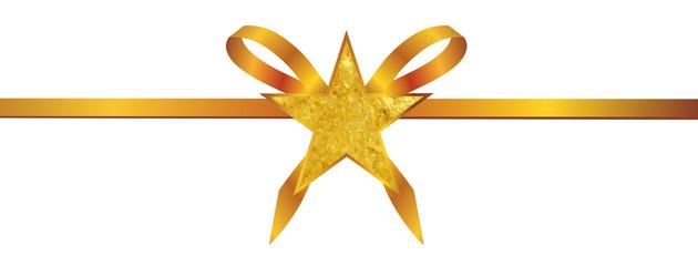 Goldene Schleife mit Stern