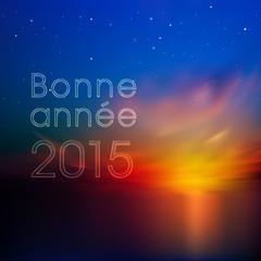 bonne année 2015 couché de soleil