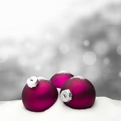 Christmas background - Christmas Ornament pink - Snow
