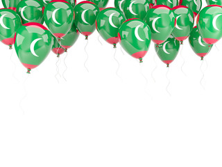 Balloon frame with flag of maldives