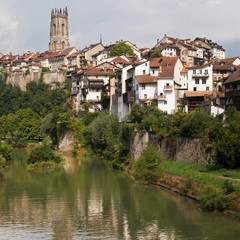 River Sarine through Fribourg