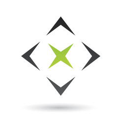 Green and Black Abstract Icon