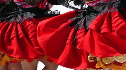 Folklore dancer Bolivia