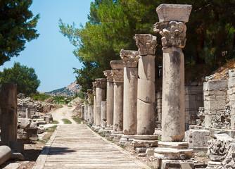 Harbor Street in the ancient Greek city Ephesus, Turkey
