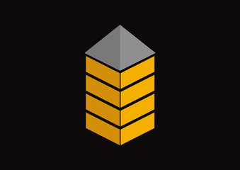 Real estate house building logo