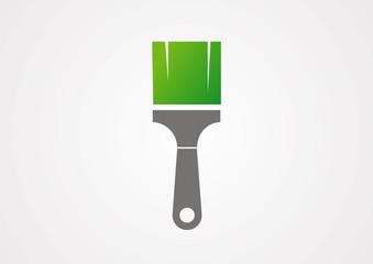 Paint brush sign icon logo vector