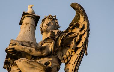 Angelo con colonna al tramonto - Ponte Sant'Angelo, Roma
