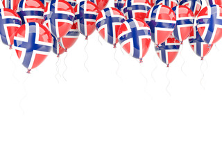 Balloon frame with flag of norway