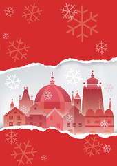 Christmas Historical town background.
