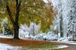 canvas print picture - Wintereinbruch