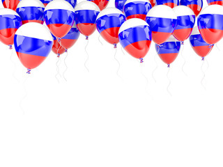 Balloon frame with flag of russia