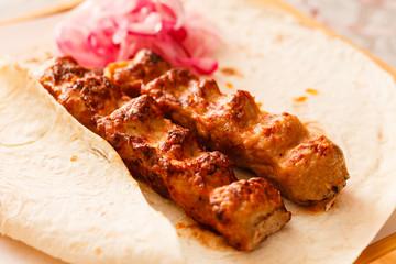 Grilled kebab meat