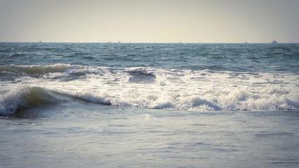 Beautiful Blue Ocean Wave, Goa India