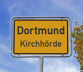 Ortsschild Dortmund Kirchhörde