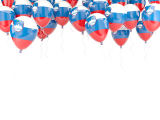 Balloon frame with flag of slovenia