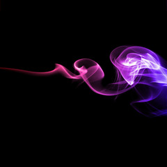 Abstract bright colored smoke