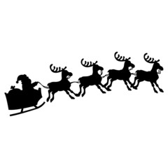 Weihnachtsmann auf Schlitten