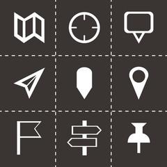 Vector black check marks icons set