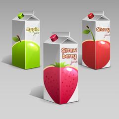 Apple, cherry, strawberry