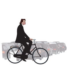 Cycling Is In Illustration