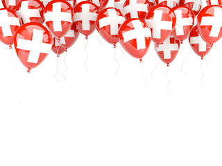 Balloon frame with flag of switzerland