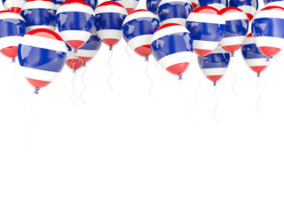 Balloon frame with flag of thailand