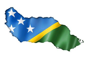 Solomon Islands flag map