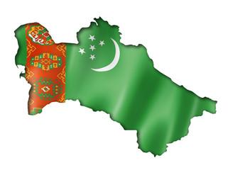 Turkmenistan flag map