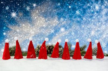 Teamwork - Weihnachtsmützen