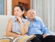 Mature woman having conflict with her senior husband