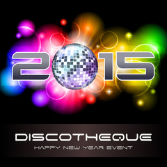 2015 Light Explosion - New Year's Disco & Event Flyer Template