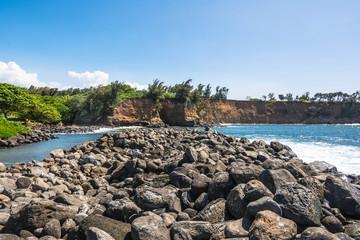 The coast in Keokea Bay, Big Island
