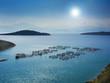 Fish farming off the coast of Greece - 73157534
