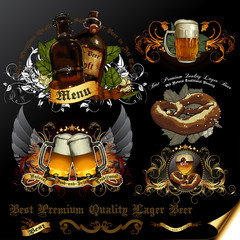 set of beer icons