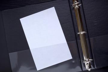 Folder with plastic pocket