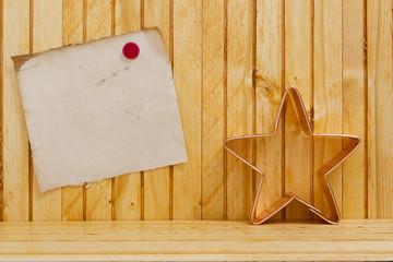 Form dough into a Christmas star