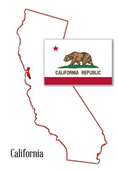 California State Map and Flag