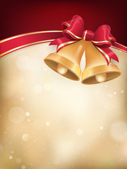 Jingle bells with red ribbon bow. EPS 10