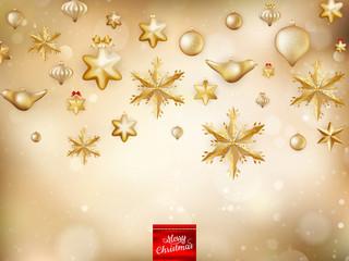 Golden Christmas Decoration. EPS 10