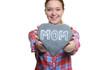canvas print picture - Frau hält ein Herz zum Muttertag