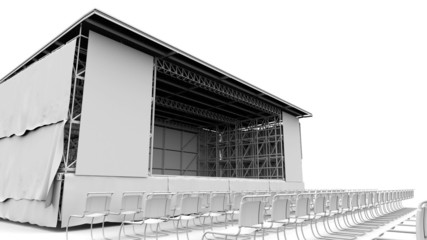 outdoor stage for show, concert,performance, advertisement,
